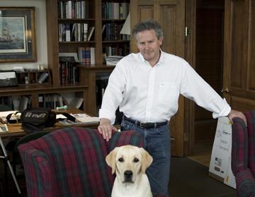 David Speaker with Dog